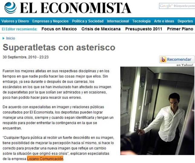 Lozano Comunicación en El Economista